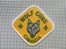 ⚜ Scouts Embroidered Patch -Vintage—Wolf Cubs Canada