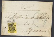 Frontal con sello. 1/2 onza del 7 de Enero de 1858. Ayamonte (Huelva).