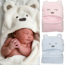 Cute Infant Baby Soft Coral Fleece Blanket Bath Towel Kids Animal Bathrobe NEW