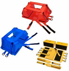 Emergency Spine Board Head Immobilizer for Backboard w/ Straps EMS/EMT Lifeguard