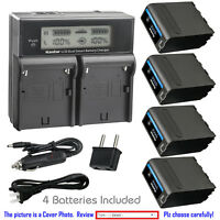 Kastar Battery LCD Fast Charger for Sony NP-F990PRO Q002-HDR1 UPX-2000 NEX-EA50M
