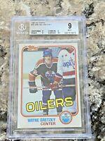 1981-82 Topps Wayne Gretzky #16 BGS 9 MINT Edmonton Oilers HOF Hockey Card