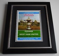 Alan Taylor SIGNED 10X8 FRAMED Photo Display West Ham United FA Cup 1975 & COA