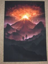 LORD OF THE RINGS Art Print poster FIRES OF MOUNT DOOM Marko Manev
