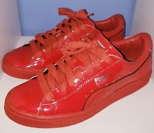 Puma Basket Classic Patent Red Blast Shoes Youth Size 5