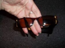 Chelsea Morgan sun glasses brown with brown and gold embelishing nice bonus case