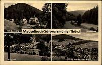 Meuselbach Schwarzmühle DDR Mehrbildkarte 1960 Hirschgrund Bergbahn HO Gasthaus