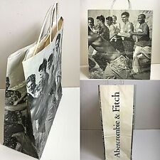 Abercrombie and Fitch Paper Shopping Bag Bruce Weber Male Group 14 X 15 1/2 X 6