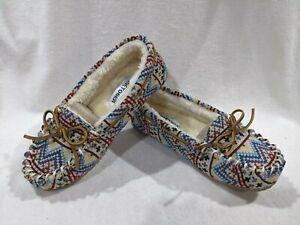 Minnetonka Britt Trapper Multicolor Fabric Women's Slippers - Size 7/8/10 NWB
