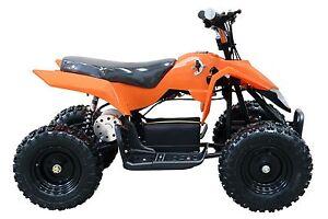 Outdoor Kids 24v 500w Orange Mini Moto Quad ATV Bike Electric TDPRO 4 Wheeler