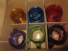 Set of 6 Multi-Colored 5 oz. Mason Jar Shooters Glasses Barware