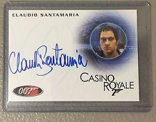 JAMES BOND  Claudio Santamaria AUTO Autograph