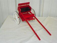 Vintage Style Saddle Horse Drawn Jog Jogging Cart Traditional Size Models Red-S