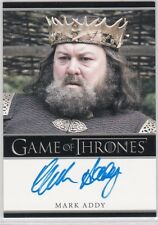 GAME OF THRONES SEASON 1 MARK ADDY KING AS ROBERT BARATHEON AUTOGRAPH RARE BORDR