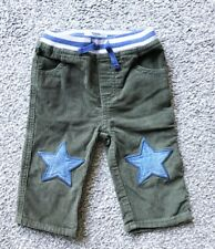 Baby BODEN Green Star Knee Corduroy Trousers. 6-12 M
