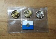 Mini Blister mit 20 Cent + 50Cent + 1 Euro Kursmünzen San Marino 2018 im Set