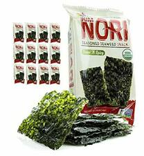 12 Pack Sea Salt Pantry Food - Seasoned Roasted Seaweed Snacks - Made in U.S.A