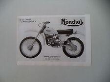 advertising Pubblicità 1978 MOTO MONDIAL 48 50 CROSS COMPETIZIONE