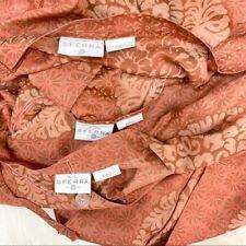 SFERRA Egyptian Cotton Terracotta King Duvet + King & Standard Pillow Shams 3pc