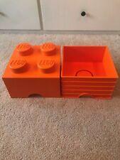 lego duplo orange storage box