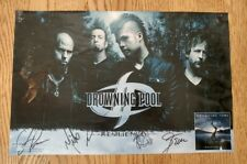 Drowning Pool Resilience album Discontinued LimitedEdition rare Poster autograph