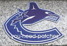 Vancouver Canucks Logo NHL Hockey Jersey Patch Sew On Embroidery Aufnäher