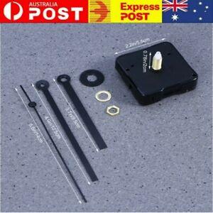 Silent Quartz Movement Wall Clock Motor Mechanism Long Pointer Repair Kit DIY AU