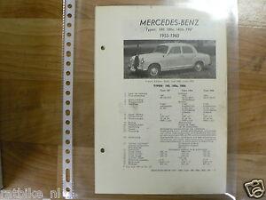 ME12-MERCEDES-BENZ TYPE 180, 180A, 180B, 190 1955-1960