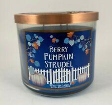 Bath & Body Works Berry Pumpkin Strudel 3-Wick 14.5 oz candle