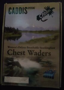 Caddis Women's Teal Deluxe Breathable Stocking Foot Chest Wader Size L Sh Plus