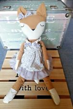 Peluche doudou renard robe fleurs nœuds Atmosphera for kids 40 cm TBE + cadeau