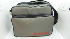 "Canon Brand Vintage Gray Carrying Case Camera Bag Canvas - Zippers 9"" x 11"""