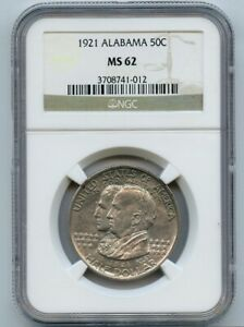 1921 Alabama Commemorative Half Dollar 50c NGC MS 62
