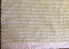 India Rose Prom Night Fabric Shower Curtain White w/ Green Chenille  Retail $110