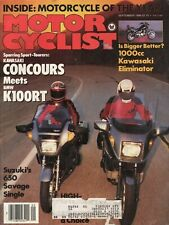 1986 September Motorcyclist - Vintage Motorcycle Magazine