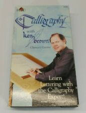 Calligraphy with Ken Brown Vhs Learn Lettering with the Calligraphy Expert!
