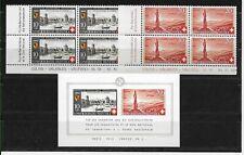 Schweiz Bundesfeier 1942 postfrisch im Viererblock + Block !!
