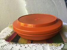 Vintage Tupperware Orange Seal & Serve Bowl 1336-10 and Lid 1337-20