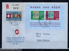 1965 - FDC.LETTRE 1°JOUR-R. /EXPO.- NABRA - OBL.BERN - SUISSE - STAMP.Yt.BF20