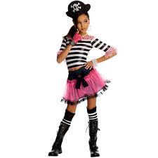 Costume Pirata Gotico Dark Rose per Bambine 6 a 7 anni Taglia S Travestimento
