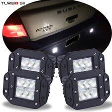 For Subaru Forester Flush Mount Backup Reverse Rear+Front Bumper 4x Led Lights