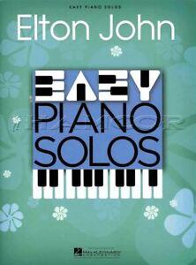 Easy Piano Solos Elton John Sheet Music Book