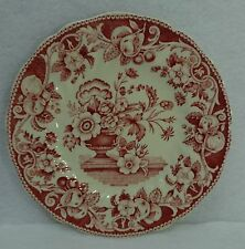 """ROYAL DOULTON china POMEROY RED pattern Bread Plate - 6-1/2"""""""