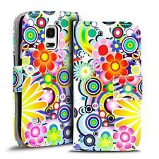 Handy Tasche für Samsung Galaxy S5 Mini Hülle PU Leder Motiv Schutzhülle Case