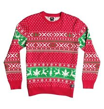 DC Shoes Ugly Xmas Sweater (M) Red