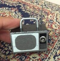 1:12 Dollhouse Miniature Retro Television TV For Bedroom Dining Living Room ♫