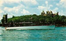 Alexandria Bay New York~Uncle Sam Long Boat Tours~Boldt Castle~1960~Postcard
