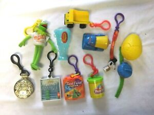 1990's Wendy's Clip Toys Vintage Kermit, Club Cave Sundial, Tonka, Snoopy, Games