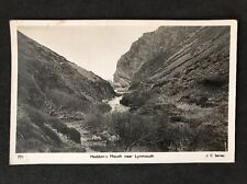 Vintage RPPC: Devon: #T77: Heddon's Mouth Near Lynmouth: Posted