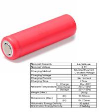 Sanyo (Panasonic) UR14650P 14650 Li-Ion ungeschützt 940 mAh (2C)